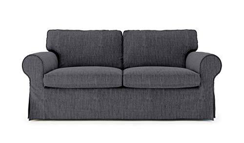 SC Replace Sofa Cover for Ektorp Sleeper, Ektorp Sofa Bed Slipcover-Dark Grey