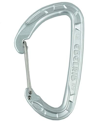 Edelrid Unisex– Erwachsene Karabiner Pure Wire, Silver, einheitlich