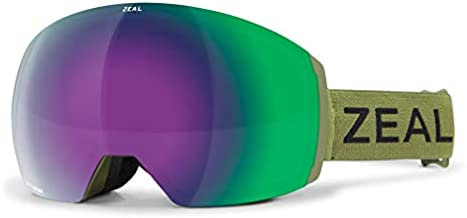 Zeal Optics Portal XL - Frameless Ski & Snowboard Goggles for Men & Women, OTG Ready – Fern w/Optimum Jade Mirror Lens