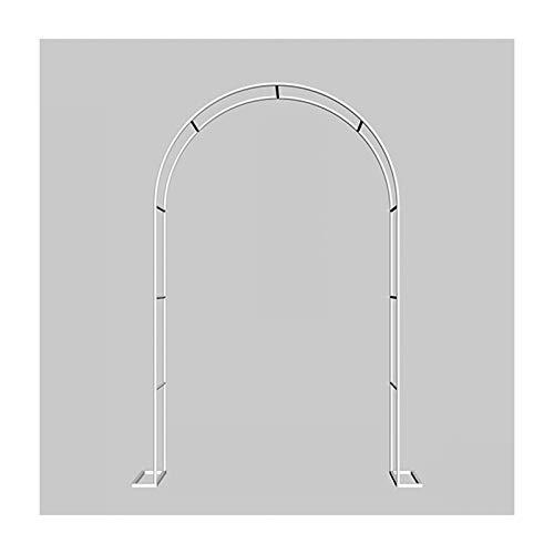 HLMBQ Arco de boda de jardín Arco, arco de rosas de metal al aire libre, ligero enrejado Arbour, varias plantas de escalada nupcial decoración pérgola cenadores (negro)