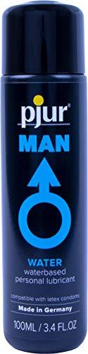 pjur MAN BASIC WATERGLIDE - Gleitgel für Männer auf Wasserbasis - klebt & schmiert nicht - perfekt auch für Erotik-Toys - 1er Pack (1 x 100 ml)
