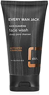 Every Man Jack Skin Clearing Face Wash - Activated Charcoal | 5-ounce | Naturally Derived, Parabens-free, Pthalate-free, D...