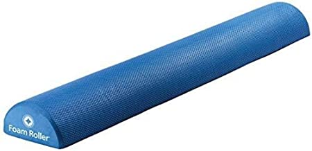 "STOTT PILATES Soft Density Deluxe Half Foam Roller, Blue, 36""/92cm"