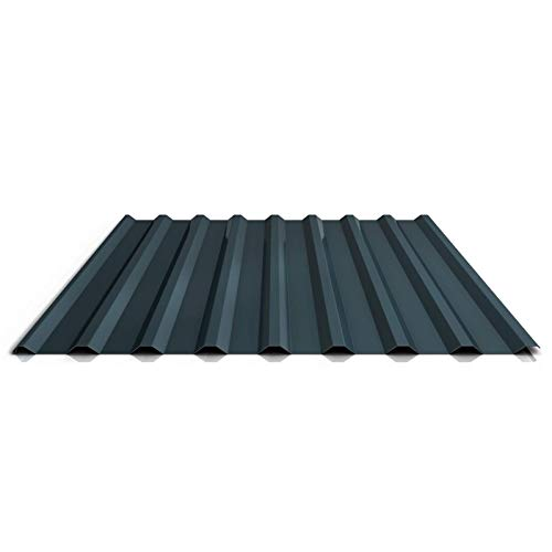 Trapezblech | Profilblech | Dachblech | Profil PS20/1100TR | Material Stahl | Stärke 0,40 mm | Beschichtung 25 µm | Farbe Anthrazitgrau