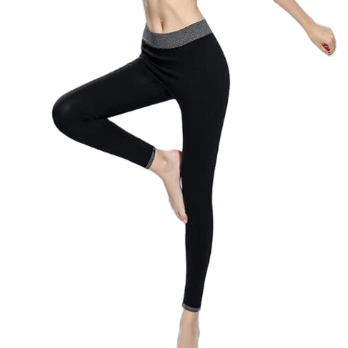 QTJY Pantalones de Yoga para Mujer, Cintura Alta, Push Up, Mallas Deportivas, Mallas de Entrenamiento para Correr, Fitness, Deportes, Pantalones de Control de Barriga BS