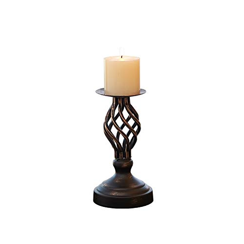 SMXGF Decoratieve Candle Holder Metal Pillar Kandelaars Woondecoratie Tribune van de kaars Candle Holders for de open haard, salon of eetkamer (Color : Height 8.07inch)