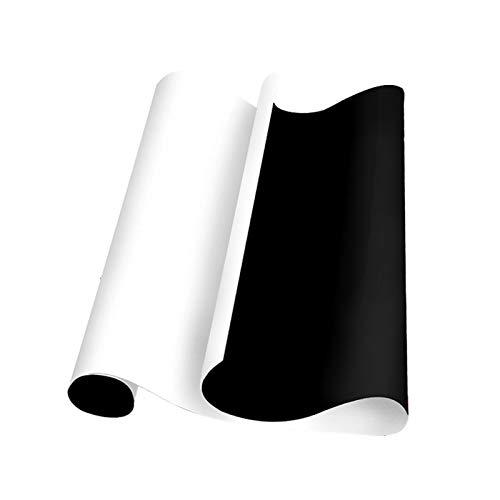 Etiqueta de la pared de la pizarra suave Etiqueta engomada magnética de 0.5mm de espesor Pegatina de pizarra magnética reglita con el conjunto de pizarra grande adhesivo, pizarra móvil, nevera magnéti