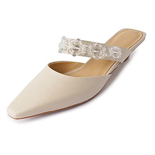 KJHKT Sandalias para mujer, sandalias de tacón alto cuadradas cerradas, sandalias sin espalda, verano al aire libre, antideslizantes, lindas y cómodas sandalias de moda