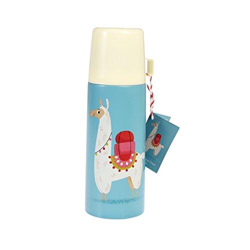 Rexinter Kinder Thermosflasche Lama mit Becher