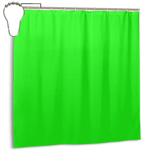 Jacklee from The Crayon Box Electric Lime Bright Green Neon Green Solid Color Duschvorhang 180 * 180cm Anti-Schimmel & Wasserabweisend Shower Curtain mit 12 Duschvorhangringen 3D Digitaldruck