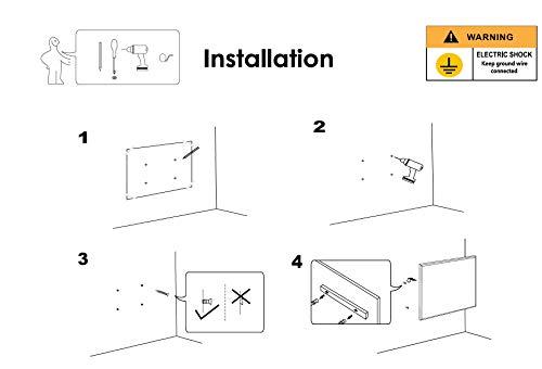INFRAROT-HEIZUNG 600W-60×100 cm-Bild-Heizung Heiz-Panel Elektro-Heizung Heiz-Körper Bild 6*