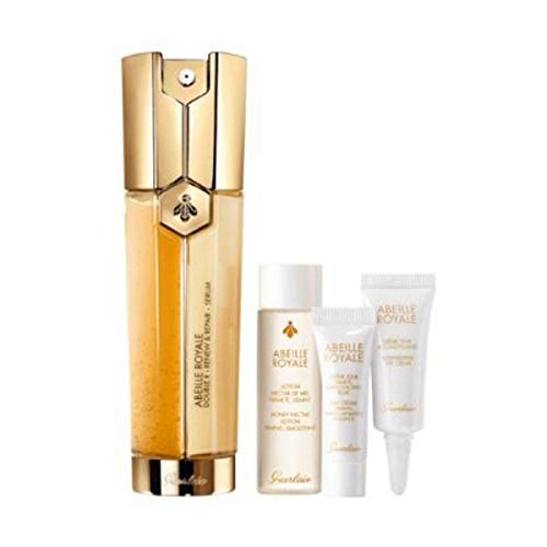GUERLAIN ABEILLE ROYALE SERUM DOUBLE R 50ML + 15ML + DAY CREAM EYE CREAM 7ML + 3 ML