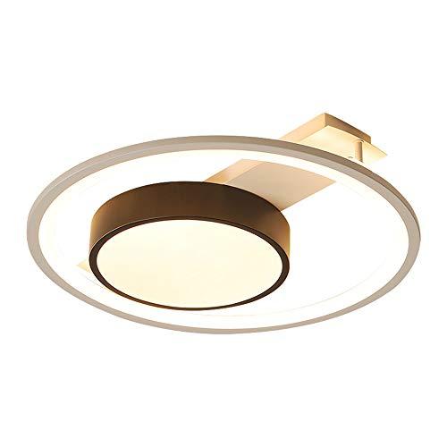 Moderne led-plafondlamp woonkamer plafondverlichting 36 W met afstandsbediening dimbaar creatief eenvoudig rond design plafondlamp metaal acryl lampenkap binnen keuken lamp D40 * H8 cm Wit Zwart