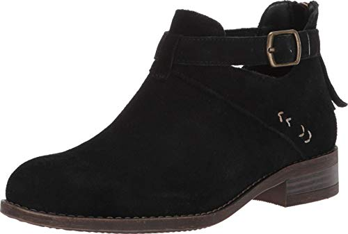 Skechers Women's Sepia-Short Buckled Strap Bootie with Air Cooled Memory Foam Ankle Boot, Black, 10 M US