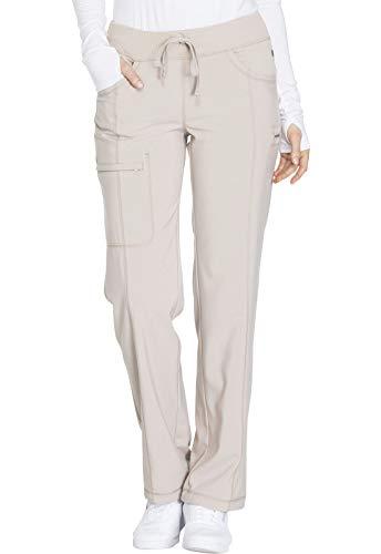 CHEROKEE Infinity Low Rise Straight Leg Drawstring Pant, 1123A, XS, Khaki