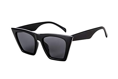 FEISEDY Gafas de Sol de Ojo de Gato Cuadradas Vintage Moda para Mujer Gafas de Sol Pequeñas de Ojo de Gato B2473