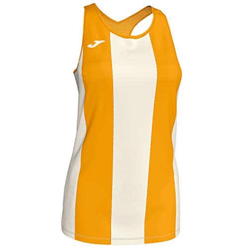 Joma Camiseta Aurora Cru-Most Tirantes Mesh Mujer, Crudo-Mostaza, S