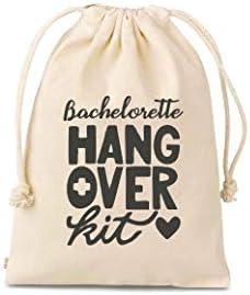 Set of 10 Bachelorette hangover kit bags amenity bags Bachelorette Party Hangover Kit Bags Cotton product image