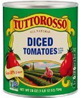 Tuttorosso Diced Tomatoes, 28oz Can (Pack of 12)