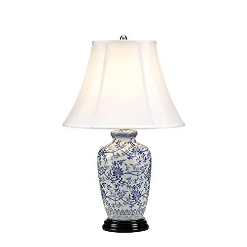 Lampada da tavolo Elstead Blue G Jar Blue 1 luce con paralume Tappered, attacco E27