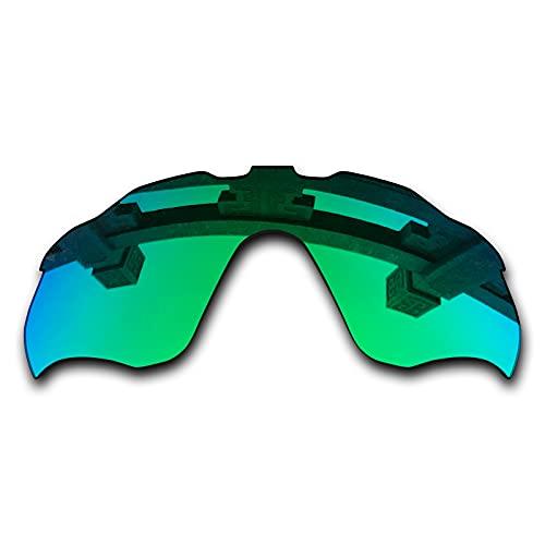 SYEMAX Lentes de repuesto para espejo polarizado, compatibles con Oakley Radar Pace (OO9333) Sunglass - Múltiples opciones, (Verde zafiro polarizado), Talla única
