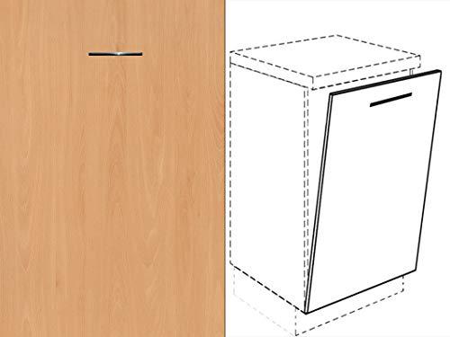 Premium-Ambiente AMEIV0091 Unterschrank Front für Geschirrspüler FE (Breite 45cm-vollintegriert, 22 Ellmau Buche)