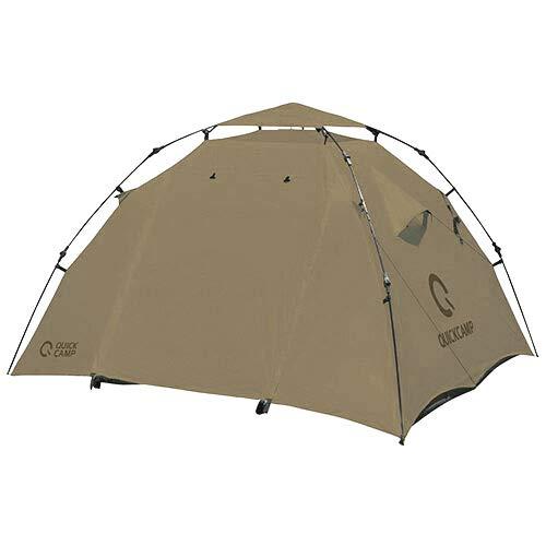 [クイックキャンプ] ダブルウォール ドームテント 3人用 グレー QC-DT220 インナーテント付き アウトドア ...