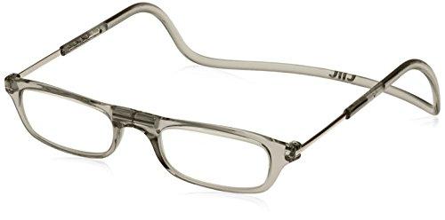 [クリックリーダー] 老眼鏡 Clic Readers メンズ クリアグレー +2.50-(FREEサイズ)