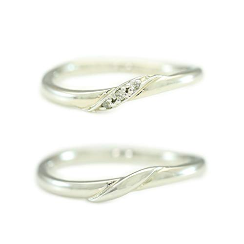 [ココカル]cococaru K18ゴールド ペアリング 2本セット 結婚指輪 マリッジリング ダイヤモンド 日本製(レディースサイズ19号 メンズサイズ8号)