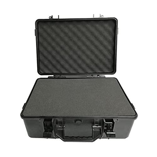 Custodia con Schiuma Custodia for Il Trasporto Impermeabile e Antiurto,Schiuma Pre-Taglio Personalizzabile,Adatta for Sacchetti Microfono Wireless,Borse for Fotocamere,ECC (Color : Black)