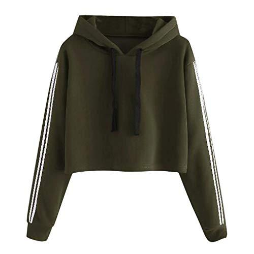 HULKY Hoodies Femmes Sweat-Shirts Tops, 2019 Nouveau Mode Sexy Sweat Femme, Haut Casual Manche Longue Pull Simple Applique Top Sweat Femme Vêtement Sportwear Outwear Soldes