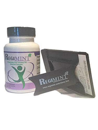 Peppermint Oil & Caraway Oil Enteric-Coated Capsule for IBS: Includes Regimint Accessary