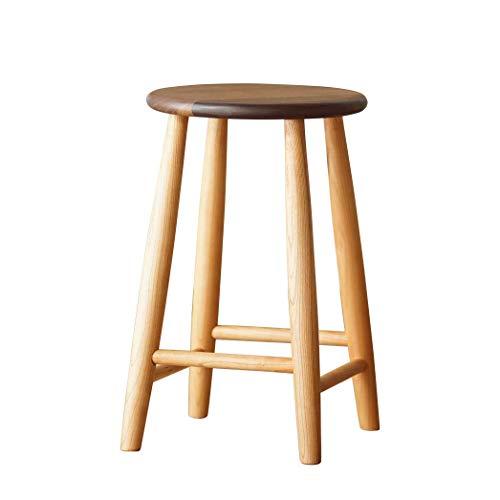 JYYYBD Furniture Nordic Home Dressing Hocker Schlafzimmer Moderne Einfache Erwachsene Holzbank Chinesische Holzbank Kreative Feste Holzschemel (Farbe : Beige)