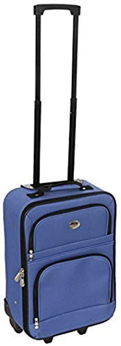 Jetstream 18 Inch Lightweight Luggage Softside Carry On Suitcase (Red Stripes)