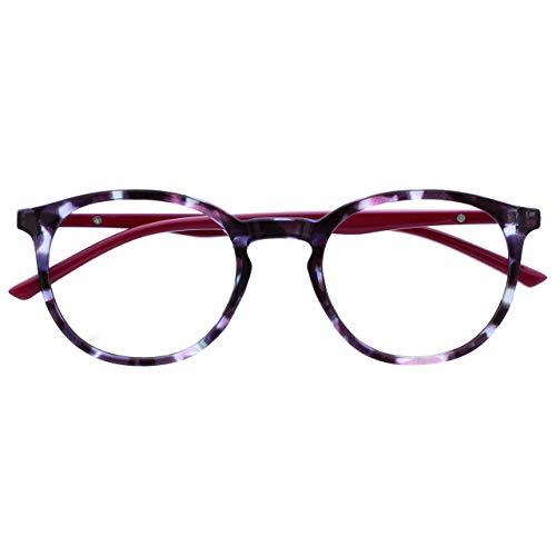 Opulize Met Bloqueo Luz Azul Gafas Computadora Juego De Azar Púrpura Rojo Cereza Hombres Mujeres Bisagras Resorte B60-5 +0,00