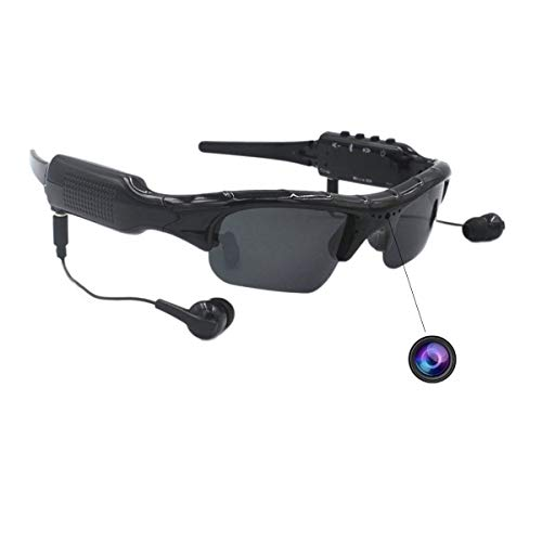 Video Camera Sunglasses Smart Eye Glasses ISCREM 1080P HD Video Recording Wearable Wireless Headset Body Cameras for Driving,Riding,Motorcycle,Fishing,Outdoor Sports Traveling