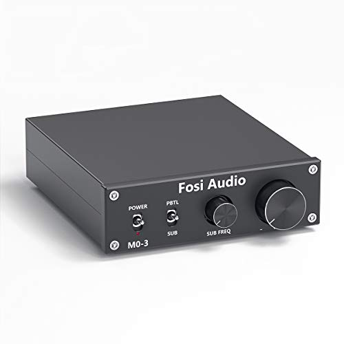 Subwoofer Amplifier 200 Watt Mini Mono Audio Amp Full-Frequency and Sub Bass Switchable Amplifier One Channel Home Theater Single Power Subwoofer Amp Fosi Audio M03
