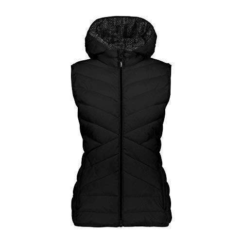 CMP Damen Daunenweste Woman Vest Zip Hood 39Z0516 Nero 40