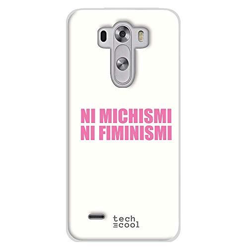 Funnytech Funda Silicona para LG G3 [Gel Silicona Flexible, Diseño Exclusivo] Frase Meme Feminismo machismo Humor Fondo Blanco