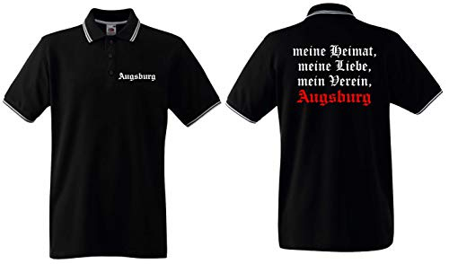 world-of-shirt / Augsburg Herren Polo-Retro Meine Heimat
