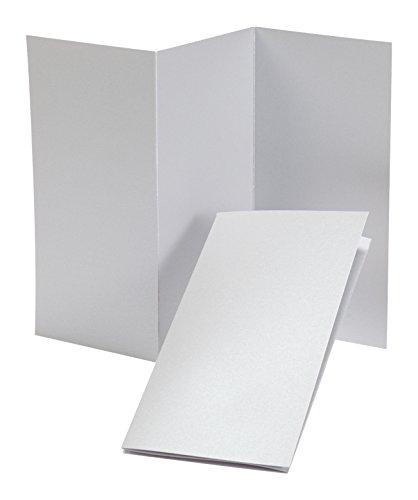 "Fine Impressions Tri-Fold Program, 4"" x 8"", Folded, Silver Shimmer, 250 Count (RRTFPSS)"