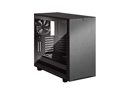 Fractal Design Define 7 Gunmetal Brushed Aluminum/Steel E-ATX Silent Modular Tempered Glass Window Mid Tower Computer Case, Gray TG Light Tint (FD-C-DEF7A-08)