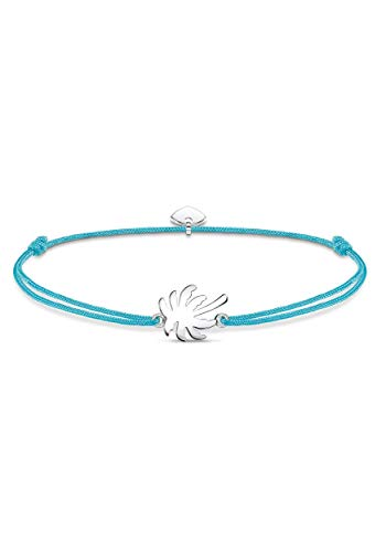 Thomas Sabo Little Secret Armband Palme 925 Sterlingsilber/ Nylon Türkis