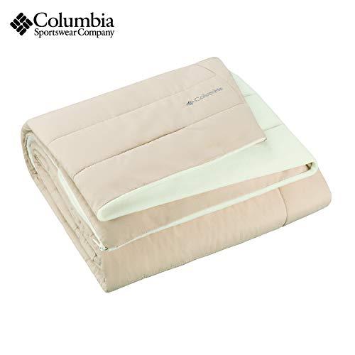 """Columbia Sportswear Indoor-Outdoor Warm & Cozy Soft Fleece Throw Blanket – Zippered Pocket – Water Repellent Fabric & Carry Storage Bag – 50"""" x 60"""""""