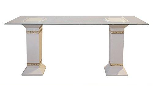 AWD Esstisch Tafeltisch Küchentisch Marmortisch Versa Serie Mäandermuster