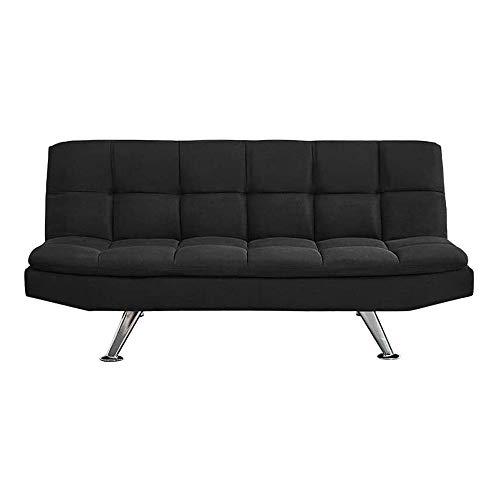 LMCLJJ Sofá Cama Funda para sofá Funda para sofá en Forma de L Funda elástica Sofá de Salon Decoración de Hogar Cojines y Tapicería (Negro)