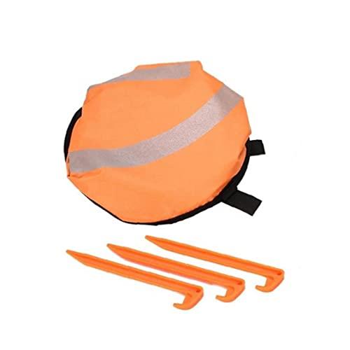 Pad Drone Landing Portable Pieghevole Pieghevole Drone Parcheggio Grembiule Arancione Blu
