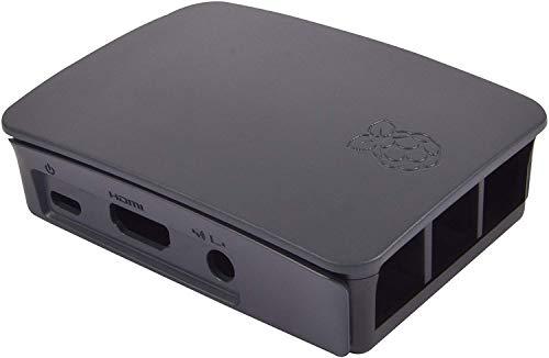 RASPBERRY 9098138 -Caja para RASPBERRY OFICIAL PI 3, Negro y Gris