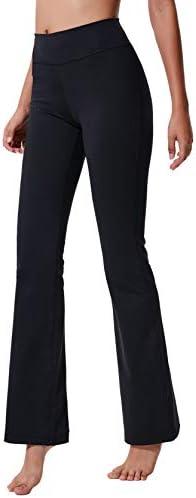 ChinFun Women s Performance Power Flex High Waist Bootleg Yoga Pants Inner Hidden Pocket Tummy product image
