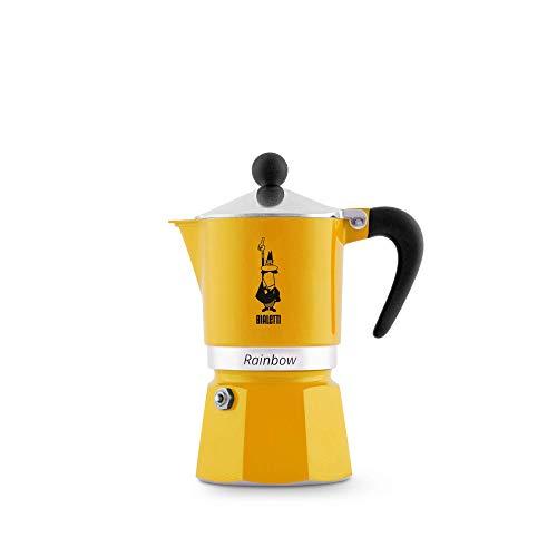 Bialetti Rainbow Aluminium Stovetop Coffee Maker (3 Cup) Yellow